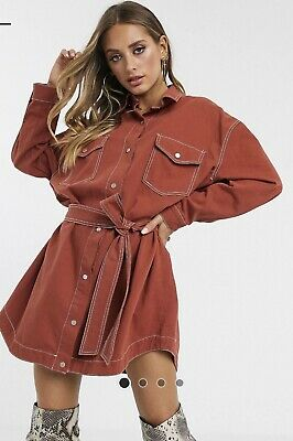 AU18 • Buy Asos Denim Shirt Dress