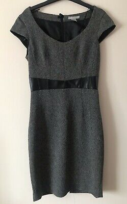 H&M Black/Grey Smart Work Fully Lined Pencil Dress Size EUR 34 • 6£