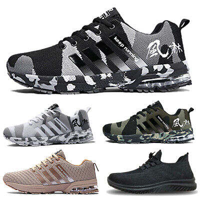 £14.90 • Buy Mens Trainers Lace Up Sports Casual Air Absorbing Running Walking Gym Shoes Size