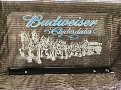 $ CDN83.43 • Buy Rare Vintage Budweiser Beer Lighted Sign Clydesdale Horses Bar