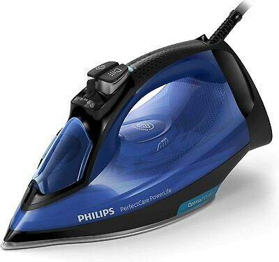 AU107.39 • Buy Philips PerfectCare Steam Iron With SteamGlide Plus Soleplate, 2400W, 180g Blue