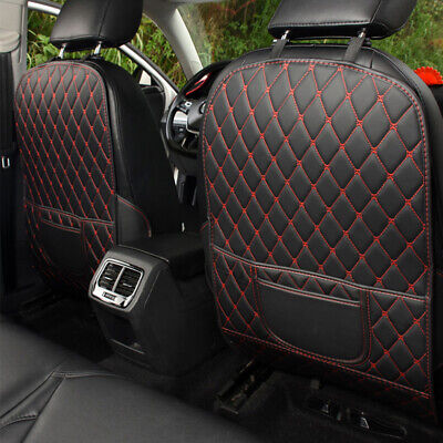 $19.10 • Buy Universal Car Seat Back Anti Kick Pad Mat PU Leather Protector Cover Accessories