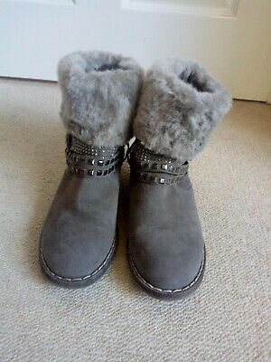 Ladies Pavers Grey Suede Ankle Boots Size Uk 5 • 14.99£