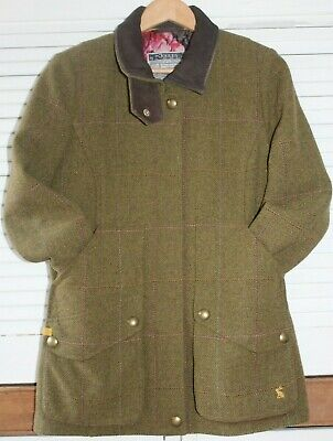 Ladies JOULES TWEED Field Jacket Coat COUNTRY UK 12 Excellent Condition • 73£