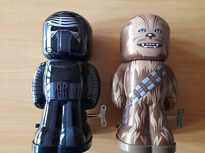 £14.99 • Buy Star Wars Schylling Tin Wind Up Toys: Chewbacca & Kylo Ren Lot: Disney