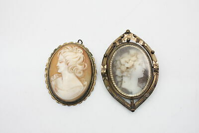 2 X Antique Shell CAMEO BROOCHES For Restoration  • 0.99£