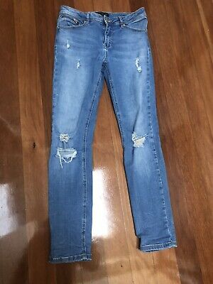 AU20 • Buy Forever New Size 10 Blue Denim Jeans Emmy