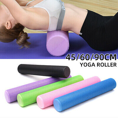 AU27.38 • Buy Yoga Foam Roller Fitness 45/60/90cm EVA Physio Yoga Pilate Exercise Home Massage