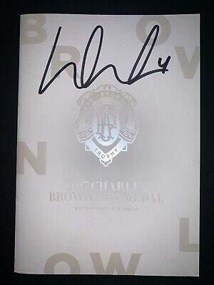 AU149.95 • Buy AFL RICHMOND TIGERS DUSTIN MARTIN HAND SIGNED BROWNLOW MENU 2017 Premiers