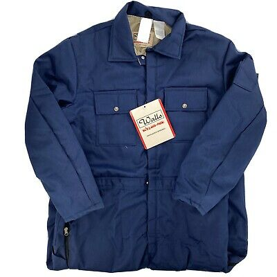 $59.99 • Buy VTG Walls Blizzard Pruf Coveralls Mens XXL 2X Work Duck Canvas Suit Blue NEW