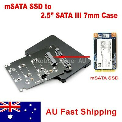 AU12.85 • Buy MSATA SSD To SATA III Converter Adapter Card With 2.5 Inch 7mm Enclosure Case