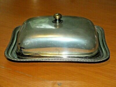 £11.99 • Buy Antique Silver Plated Butter Cheese Dish And Lid EPNS 8x6 Inches Vintage