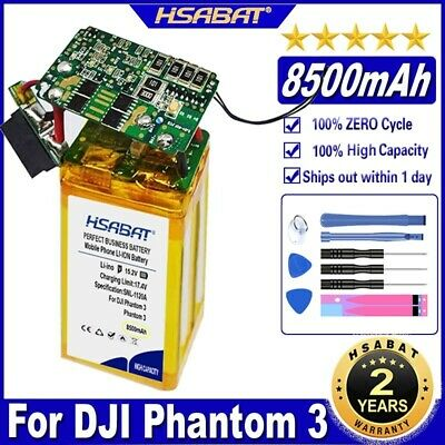 AU115.63 • Buy HSABAT Phantom 3 8500mAh Drone Battery For DJI Phantom 3 Professional/3/Standard