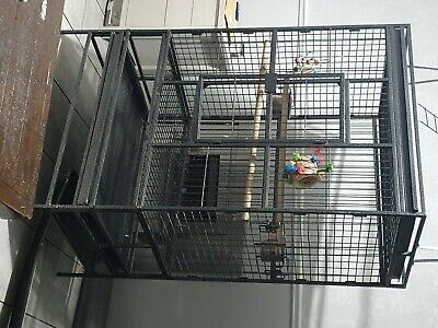 Used Large Bird Cage With Perch On The Top In Very Good Condition • 50£