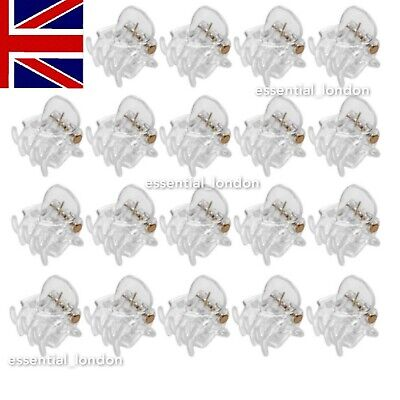 £2.98 • Buy 20 Mini Claw Clips Clamps White 1cm Small Plastic Womens Girls Hair Clips Claw