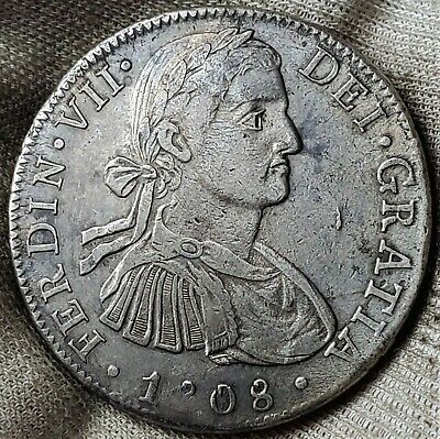 AU18.71 • Buy 8 Reales 1808 TH *LUSTROUS* Ferdinand VII Mexico SPANISH COLONY HIGH Grade !!