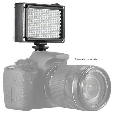 96 LED Video Light Lamp Lighting Hot Shoe For Canon Camcorder Nikon DSLR B6O0 • 8.37£