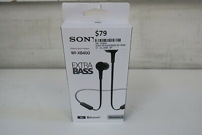 AU77.88 • Buy Sony NEW WI-XB400 EXTRA BASS Wireless In-ear Headphones (Black)