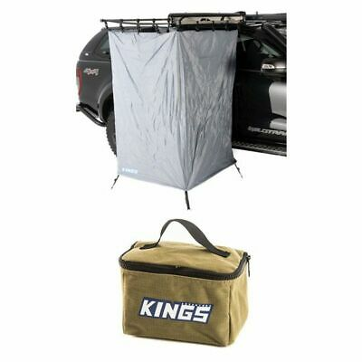AU170 • Buy Adventure Kings Instant Ensuite Awning Shower Tent + 400GSM Canvas Toiletry Bag