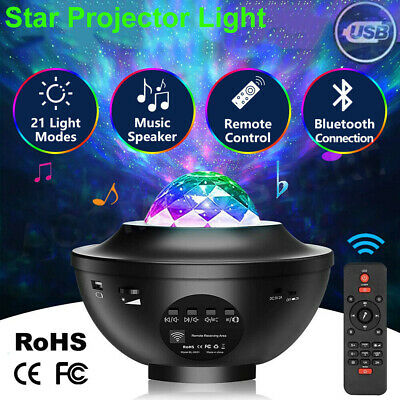 AU35.99 • Buy LED Galaxy Starry Night Light Projector Ocean Star Sky Party Kids Baby Room Lamp