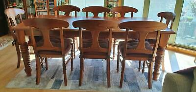 AU200 • Buy 9 Piece Timber Dining Setting With 8 Chairs With  Padded Seats