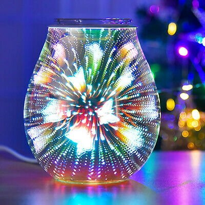 £12.99 • Buy 3D Glass Electric Wax Melt Warmer Butterfly Aroma Night Lamp Oil Burner Diffuser
