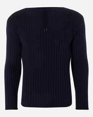 £318.89 • Buy N.Peal No Time To Die James Bond Commando Sweater Jumper Navy Size M