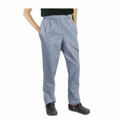 £21.67 • Buy Chef Works Unisex Easy Fit Pants Check Pattern Polycotton Trousers Bottoms