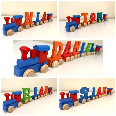 £1.50 • Buy Personalised Wooden Name Train : Colour Wooden Trains
