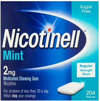 $ CDN41.35 • Buy Nicotinell 2mg Gum Mint 204 Pieces Medicated Chewing Gum Nicotine New