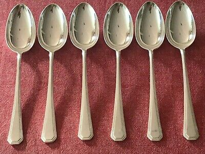 £19.99 • Buy Great Set Of 6 Silver Plated Mappin & Webb Athenian Dessert  Spoons 18.5cm