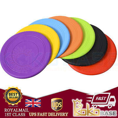 £3.18 • Buy Soft Rubber Summer Beach Frisbee Dog Pet Throwing Flying Disc Frisby Fetch Toy