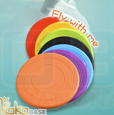 £2.99 • Buy Dog Frisbee Toy Durable Silicone Rubber Outdoor Training Interactive Flying Disc