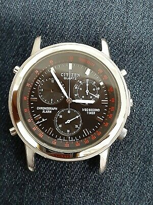 $ CDN30.22 • Buy RaRe,Vintage Men's CITIZEN Chronograph/Alarm Watch 3531‐351347 As Is/Parts.