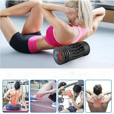 AU69.87 • Buy Vibrating Foam Roller With 5 Speed Settings For Back Shoulders Soles Sporting
