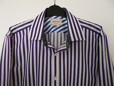 £9.99 • Buy 'ARCHIVE' DOUBLE CUFF/CUFFLINKS SHIRT Size 16.5  By TED BAKER EX.COND.