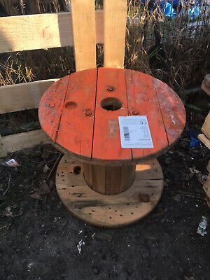 Wooden Electric Cable Drum Perfect As Coffee Patio Table Bookshelf Small Size • 15£