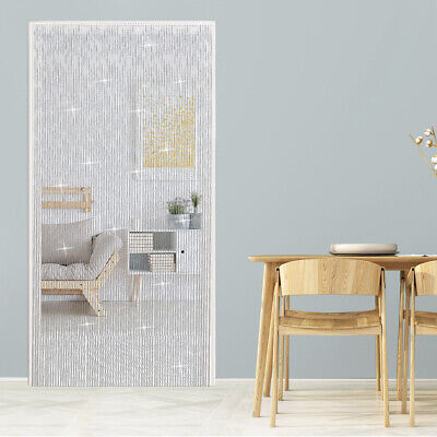 OGORI METAL FLY SCREEN DOOR CURTAIN ALUMINIUM CHAIN OUTDOOR 214*90cm • 34.99£