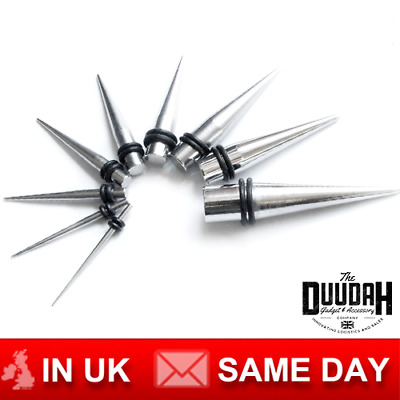 £4.99 • Buy Surgical Steel Ear Tapers & Flesh Tunnel Stretching Kit Stretcher Set 1.6mm-10mm