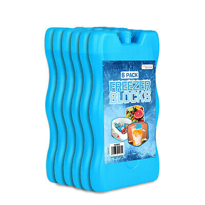 £8.98 • Buy 6 X Reusable Freezer Cool Blocks Ice Pack Cooler Bag For Picnic Travel Lunch Box