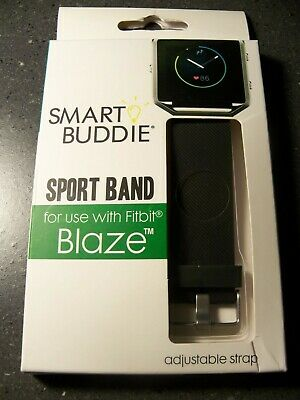 $ CDN15.66 • Buy Smart Buddie SPORT BAND For FITBIT BLAZE Black With Adjustable Strap *NEW!