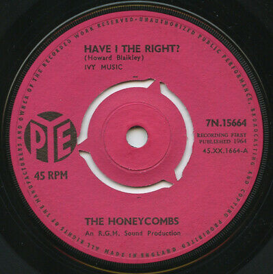 £2.99 • Buy The Honeycombs – Have I The Right? Pye Records / 1964 - 7  Vinyl