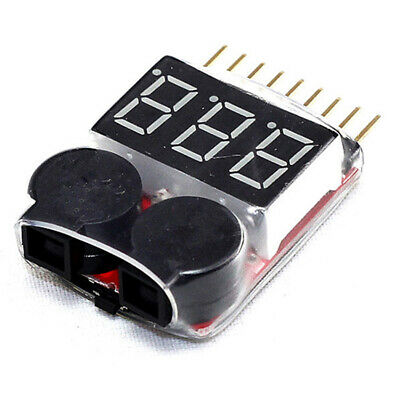 £2.57 • Buy RC Lipo Battery Low Voltage Alarm 1S-8S Buzzer Indicator LED Tester Checker W2F5