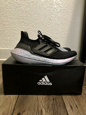 AU212.51 • Buy WOMEN'S ADIDAS ULTRABOOST 21 RUNNING SHOES Size 6.5 - Core Black/Blue Oxide