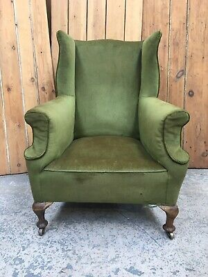 £235 • Buy Stunning Imposing Gent's Large Victorian Library Armchair On Cabriole Legs.