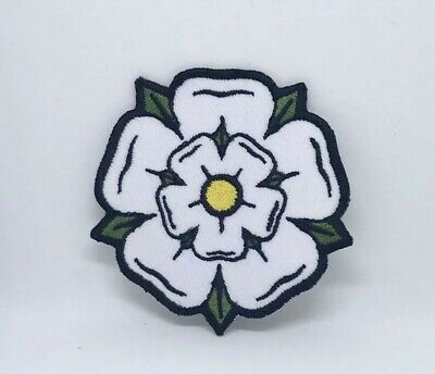 £1.99 • Buy White Yorkshire Rose Iron On Sew On Embroidered Patch