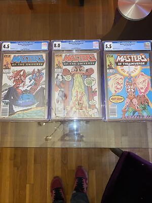 $136 • Buy Masters Of The Universe #1, #3, #5 - Cgc Graded!!! - Star Comics Great Condition