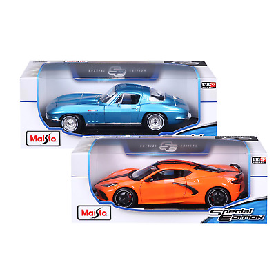 $ CDN83.87 • Buy Maisto 1:18 Die Cast Vehicle 2-Pack, 1965 Corvette And 2020 Corvette Stingray
