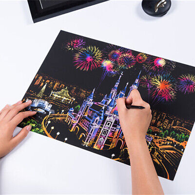 £9.99 • Buy Scratch Painting Creative Gift Scratch Foil Art Adult Kid With 4 Tools 16''x11.2