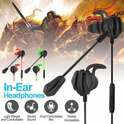 AU19.89 • Buy G6 In-Ear Gaming Headphones With Dual Mic Wired Earbuds Gaming Earphones For PC
